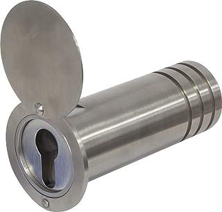 ABUS KeyGarage™ 729 Sleutelkluis voor in de muur, roestvrij stalen buis voor het opbergen van sleutels, sleutelbox met afd...