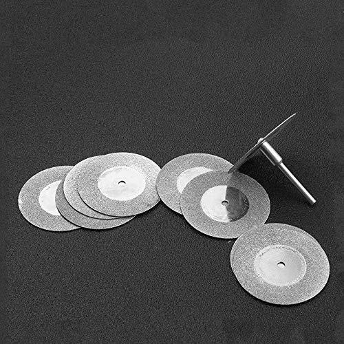 ABST27906 Abrasive 5Pcs 50mm Diamond Cutting Discs & Drill Bit for Rotary Tool Blade