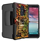 Untouchble Case for ZTE Blade X Max, ZTE ZMAX Pro, ZTE Carry Case [Heavy Duty Clip]- Shockproof Swivel Holster Case with Built in Kickstand - Autumn Deer Hunt