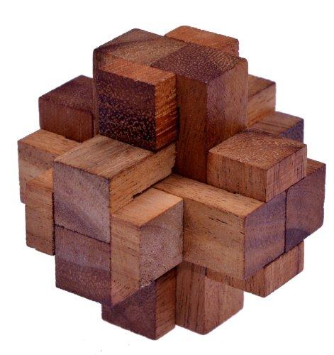 LOGOPLAY Teufelsknoten G173 - 3D Puzzle - Denkspiel - Knobelspiel - Geduldspiel - Logikspiel aus Holz