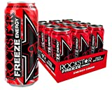 Rockstar Energy Drink Freeze Watermelon, Koffeinhaltiges Erfrischungsgetränk für den Energie Kick, einweg (12x 500ml)
