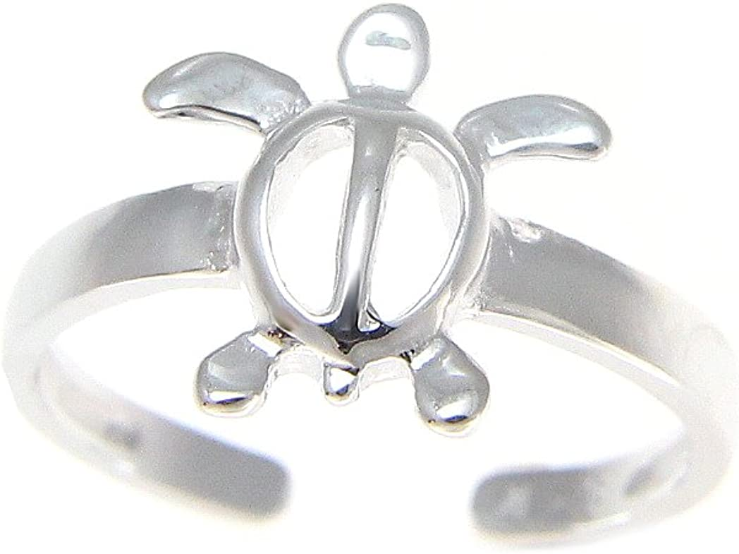 Arthur's New York Mall Jewelry 925 Sterling Silver Turtle Mesa Mall Honu Hawaiian Toe Ri