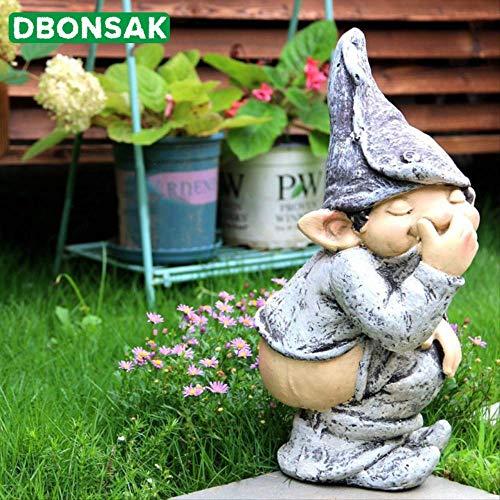 PET HOUND Estatua Escultura Decoración Figura Figura Divertida Decoración De Culo De Luz Desnuda Escultura De Personaje De Duende Decoración De Jardín De Patio De Césped Al Aire Libre