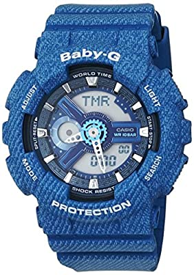 Casio Baby-G – Reloj Mujer Analógico/Digital con Correa de Resina – BA-110DC