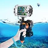 Für wasserdichte Kamera 3 in 1 Pistolenauslöser-Set (Shutter Auslöser + Telefon Clamp +...
