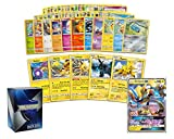 Pokemon Electric Collection - 50 Pokemon Cards Plus 5 Rare Electric Pokemon and 1 Electric Ultra-Rare Card Free pro Support Deck Box Include