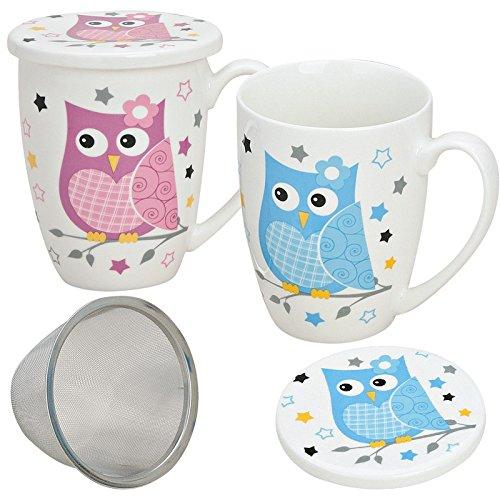 matches21 - Juego de tazas de té (2 unidades, porcelana, 10 cm de alt