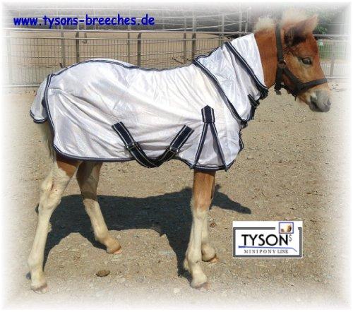 Tysons Breeches Fliegendecke Mini Pony Minipony Shetty Minishetty NUR Klett 75 80 85 90 95 100 cm ! Fohlendecke abnehmbares Halsteil !!! (100)