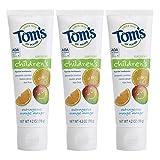 Tom's of Maine Anticavity - Pasta dental para niños, naranja indignante, 4.2....
