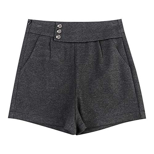 Modische Damen Wollshorts, Home Casual Style, L grau