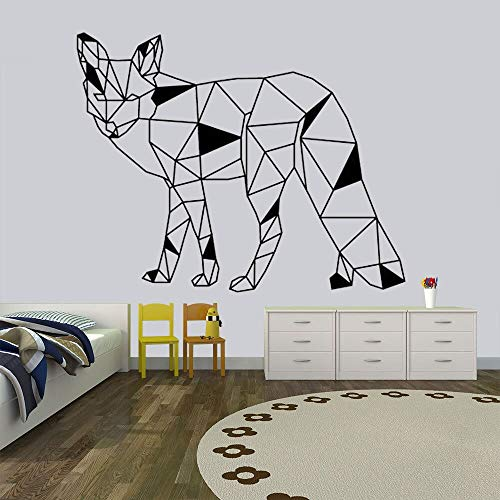 Geometric animal stickers geometric fox wall decal nursery fox stickers removable vinyl wall stickers 63X51cm