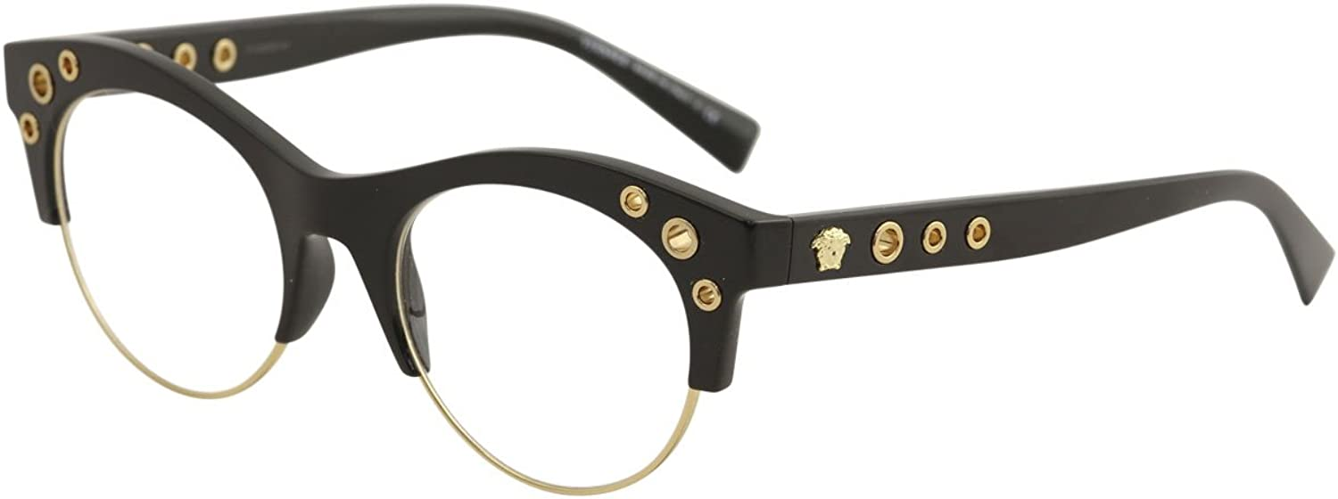 Versace Glasses Frames 3232 GB1 Black gold 52mm Womens