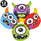 Monster Plush (12 Count) 5' Halloween Plush, Monsters Inc Party Supplies - Fun Halloween Party Favors for...