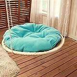 Somedays Katze-Hängematte-Bett, Haustier-abnehmbare gemütliche ungiftige Kissen-Stroh-Klettern-Bett-warme weiche hängende Kissen-Sitzbank-Hängematte, die kletterndes Bett für die Katze hängt,