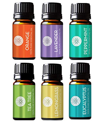 Pure Body Natural Essential Oils Set, 100% Pure...