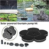 Centraliain 6 Unids/Set Fuente De Agua Jardinería Exterior Redondo Energía Solar Fuente De Agua Flotante Bomba Decoración