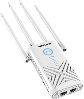 WAVLINK 1200Mbps Wifi Range Extender Booster 5ghz Wireless Access Point Wifi Repeater Dual Band Signal Amplifier with 2 x ...
