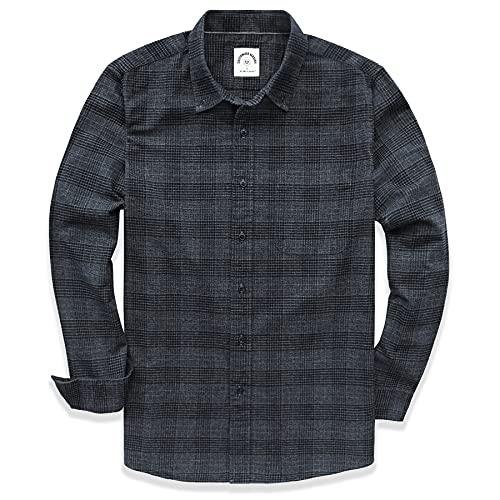 Dubinik Camicie Casual Button-Down A Maniche Lunghe Plaid degli Uomini 100% Cotone Facile Cura Regolare…