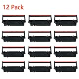 12-Pack Replacement for Star SP700 Printer Ribbon for Using with Star RC700 Sp 700 Sp700 Sp712 Sp717 Sp742 Sp747 (Black and Red)