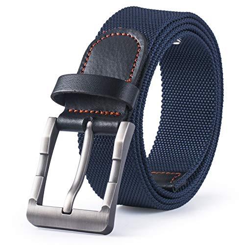 SBORT cintura Ideale per jeans Tattiche nylon tela fibbia ad ardiglione uomo e donna fan militari sgancio rapido blu 115cm