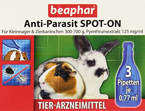 Anti-Parasit SPOT-ON für Kleinnager 300-700 g 3 x 0,4 ml Pipetten