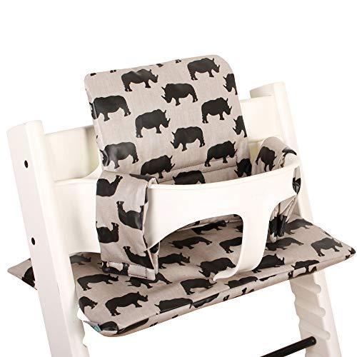 Sitzkissen Sitzverkleinerer Kissen von UKJE für Stokke Tripp Trapp Beschichtet Praktisch und dick gepolstert Beige Nashorn Maschinenwaschbar 2-teilig Öko-Tex Baumwolle