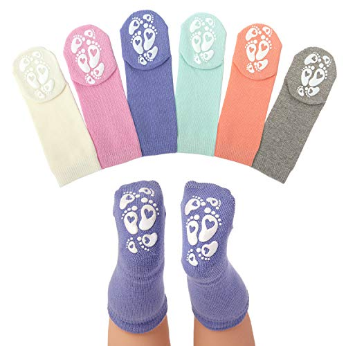 Anole Newborn & Infant Baby Socks - 6 Pairs - Knee High Boys Girls Cotton (Contemporary, 0-3 Months)