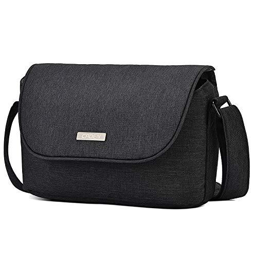 CADeN Camera Shoulder Bag Case Compatible for Nikon, Canon, Sony DSLR SLR Mirrorless Cameras Waterproof Black