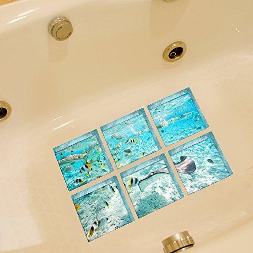 AILEGOU 3D Non-Slip Bathtub Stickers, Children
