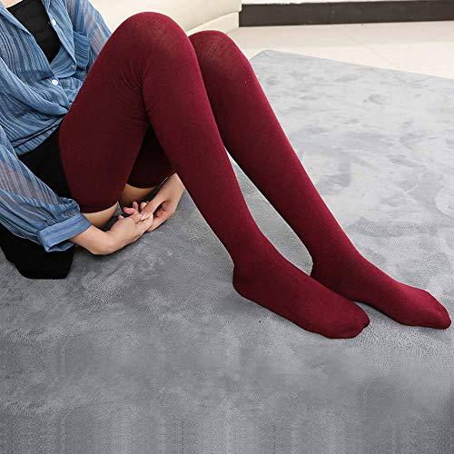 MoonyLI 1 Paar extra Lange Socken Lange Baumwollstrick Warme Dicke hohe Lange Stiefelstrümpfe Beinlinge Strumpfhosen Lange Strümpfe Damen Oberschenkel hohe Socken