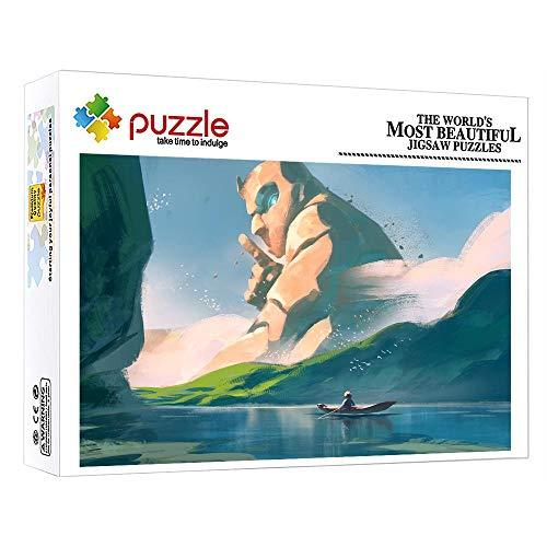 ZTCLXJ 1000 Pcs Puzzle Rompecabezas Gigante 1000 Piezas Puzzles Progresivos para Adultos Niños Juguetes para Niños para La Decoración De La Pared De La Casa 15 X 10 Pulgada