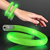 Green LED Flashing Tube Wrap Light Up Bracelet
