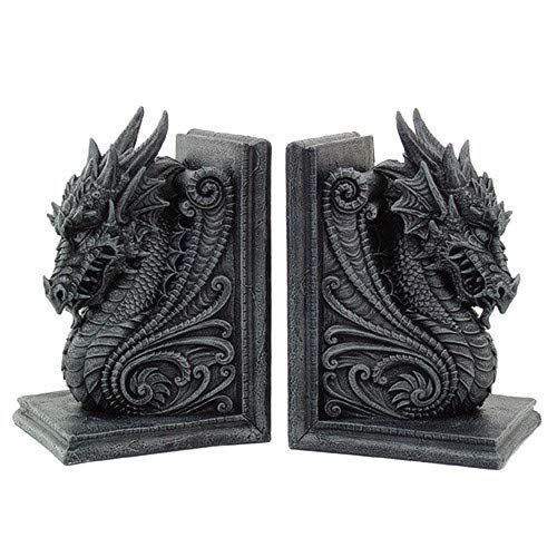 Gothic Dragon Bookends Midieval Book Ends Evil Medieval 8266