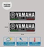 Autocollant Compatible avec Yamaha Usine Racing Plastifié Imprimé 2 Unités De