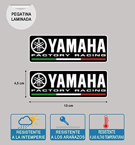 Sticker Compatibile con Yamaha Factory Racing Laminato Stampa 2 Unità