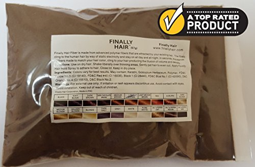 Hair Building Fibers 57 Grams. Highest Grade Refill That You Can Use for Your Bottles From Competitors Like Toppik?, Xfusion?, Miracle Hair? (Light Brown)