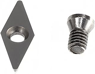 """YUFUTOL Diamond shape Carbide Replacement Insert Cutter Dia:10mm(.39"""") X28mm(1.10""""),Pack of 1, Fits Popular Mid Full And Pro Size Detailers Wood Turning tools"""