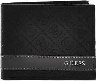 GUESS Men's Mesa Double Billfold Wallet Black