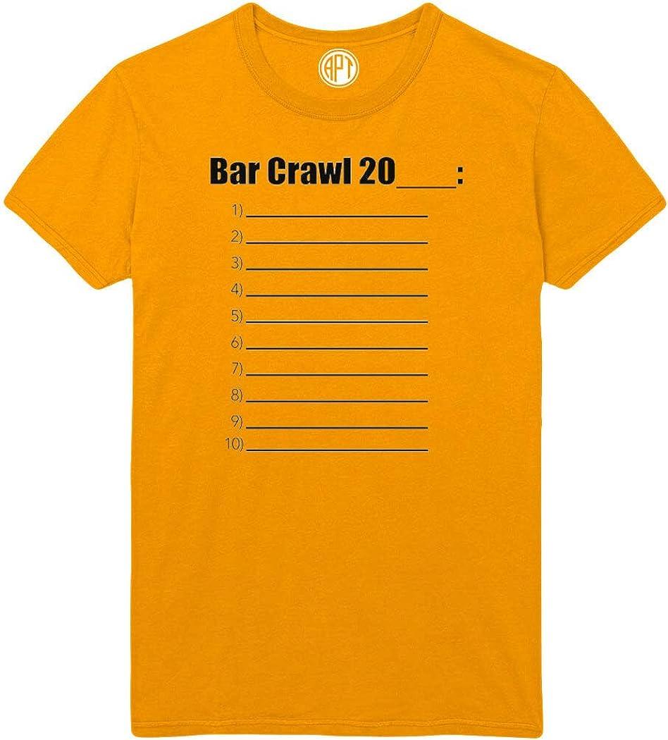 Bar Crawl 20 Worksheet Printed T-Shirt