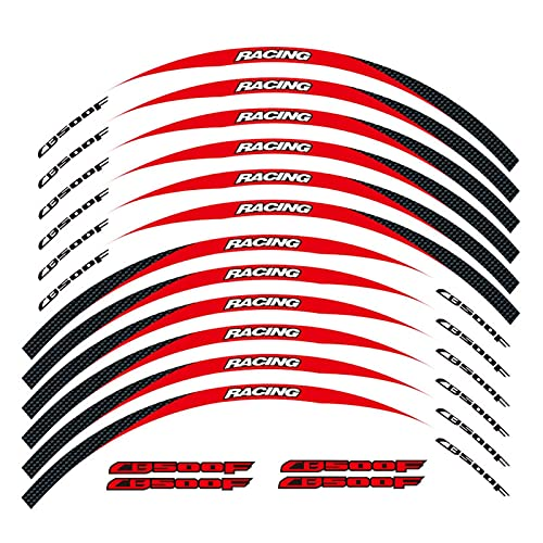 wjyfexble Etiqueta de la Rueda de la Motocicleta Pegatina Remonte Rim Reflectante Compatible con Honda CB500F WYJHN (Color : 2)