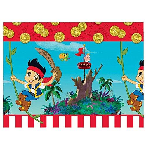 Amscan 80686 - Mantel con diseño de Jake y los piratas (látex, 1,2 x 1,8 m)