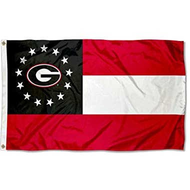 Multicolor WinCraft NCAA Georgia Bulldogs Stars and Stripes Deluxe Flag 3 x 5