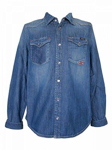 Pepe Jeans–Jeanshemd blau stoné Langarm Gr. 10 Jahre, blau