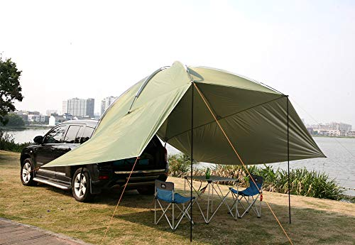 Latourreg Outdoor Camping Car Tailgate Canopy Shade Tent car Gazebo Tent Large Car Rear Tent SUV...