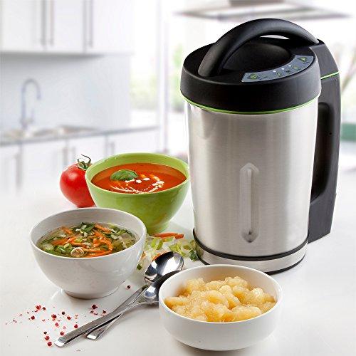 Vollautomatischer Suppenkocher -Soup Maker kocht, mixt und erwärmt ganz von allein in nur 20 Minuten, 1,6 Liter, 3 Programme (1,6 Liter)