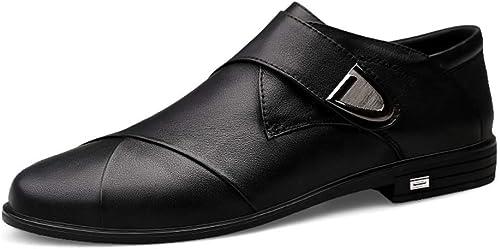 HILOTU Herrenmode Oxford Schuhe Casual Bequeme Schuhe Einfache Bequeme Haken Schleife Formale Schuhe (Farbe   Schwarz Größe   41 EU)