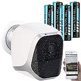 VisorTech WiFi Cam: IP-HD-Überwachungskamera mit App, IP65, bis 6 Monate Stand-by, 4 Akkus (Überwachungskamera Outdoor)