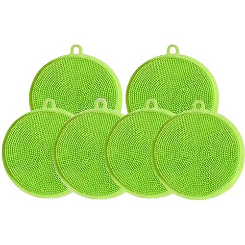 Wdonddonqj Cepillo lavavajillas de Silicona Multifuncional/lavavajillas for lavavajillas/Gel de sílice/Lavar la Olla (Color : Green)