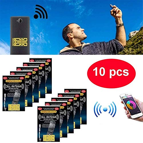 WDXUN 10 pcs Cell Phone Signal Enhancement Stickers, Portable Antenna Signal Booster Sticker, for Camping, Mountaineering, Taking The Lift