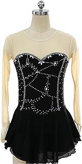 カスタマイズされた子供の大人のフィギュアスケートの服装の性能の衣類の競争のスカートのナイロン,AdultsSize:L